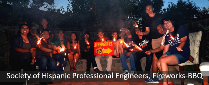 Society of Hispanic Professional Engineers, Fireworks-BBQ