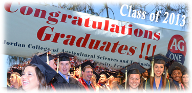 Ag One Congratulate Student Banner